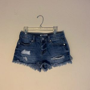Distressed jean shorts size small